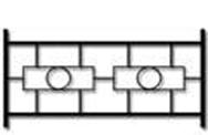 Секция сварного газонного ограждения ГО-3