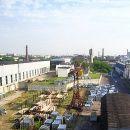 Крыши цехов завода